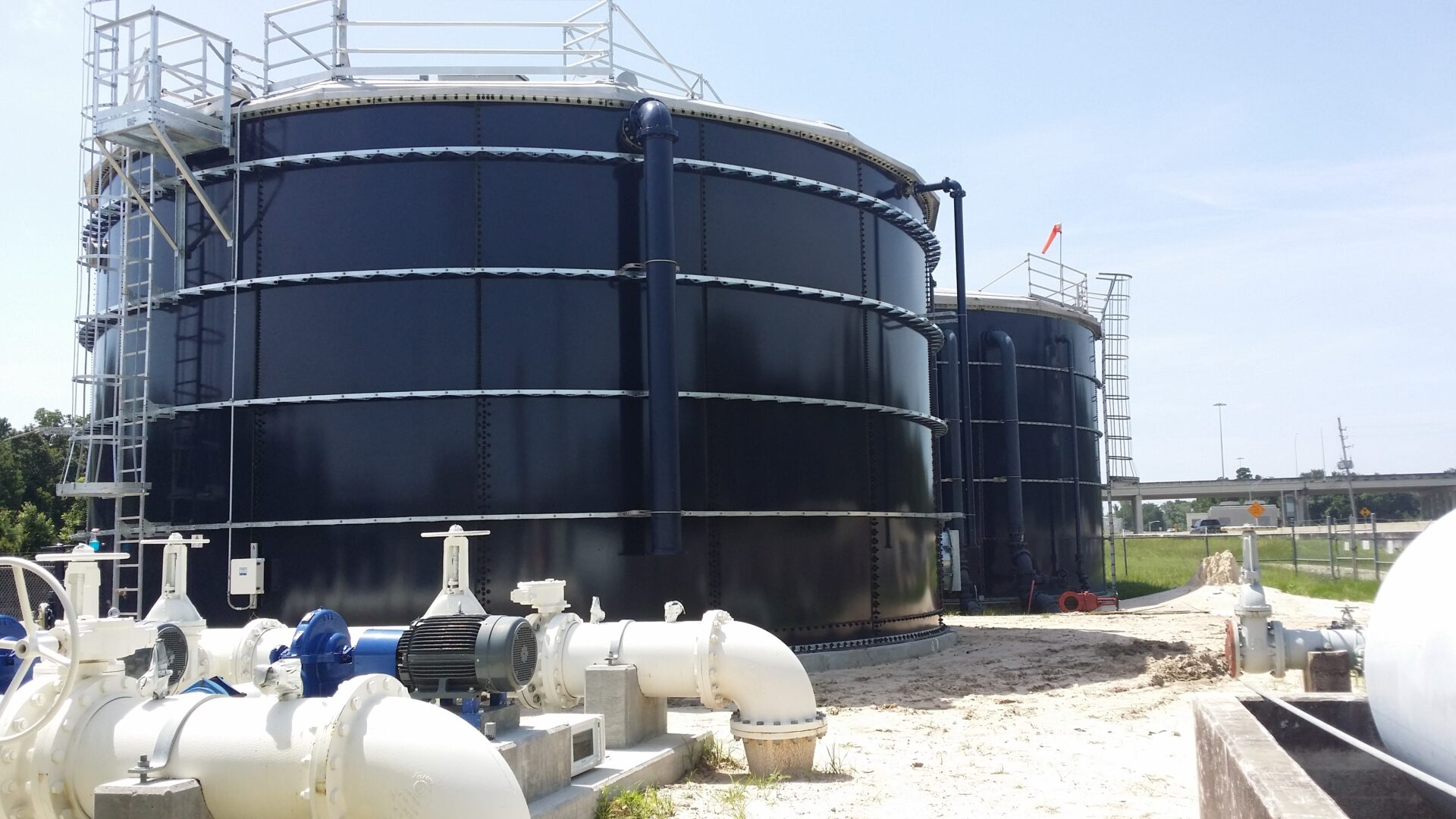 two water tanks